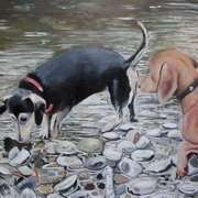Dogs in the River Walk