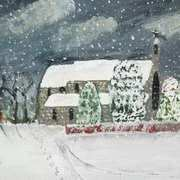 Snowy Church Scene at Rathdrum