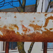 Art 'Rusty panel (canal, Dublin)'