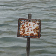 White rusty panel (green water)