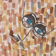 Abstract head of James Joyce