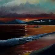 Downings Beach Sunset
