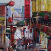 Irish art. Street In Taipei, artist Shane Diamond, Louth