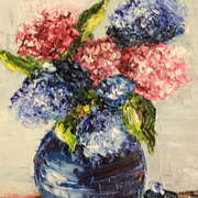 Irish Art, Blue Vase,