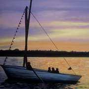 Boating at Dusk