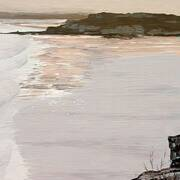 Irish Art, Low tide - Stragill,