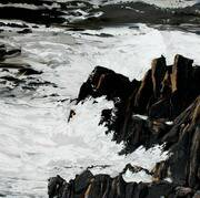 Irish Art, Rough Sea - Ned's Point,