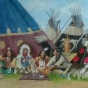 Crow indian village circa1860 1