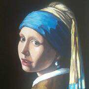 Girl with Pearl Earing (after Vermeer)