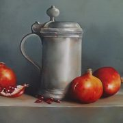 Art 'Pewter and Pomegranates'