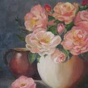 Irish Art, Auntie Pat's Roses,