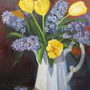 Irish Art, Hyacinth Bouquet,