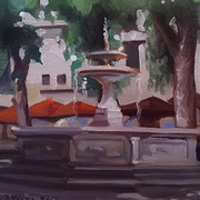 The fountain in Santo Spirito