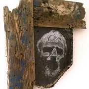Art 'Self Portrait, Wood, Glass'