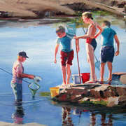 Irish Art, Inspecting the catch,