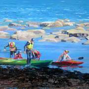 Irish Art, Kayaks at Kilkee,