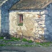 Donegal Cottage, Oil on Canvas, 20 x 20 ins by Barrie Maguire