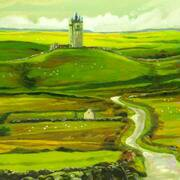 Road to Lisdoonvarna, Oil on Canvas, 12 x 16 ins by Barrie Maguire