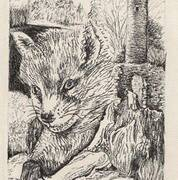 Wildlife II, Glendalough, Pen on Paper, 39cm x 11cm by Deborah McCoy