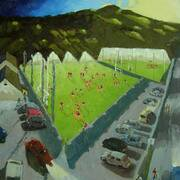 Carrickcruppan GFC, Oil on Canvas, 50x40 cm by Francis McShane