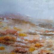 April Morn, watercolour on Japanese paper, 37 x 44 framed by Phyl Staunton