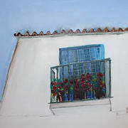 Ventana, Oil, 70 x 50 ins by Roger Cummiskey