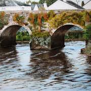 The Old Bridge Carrick on Suir,acrylic on cavas,50 x 40 cm