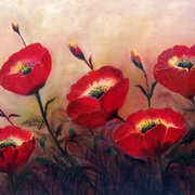 Poppy Profusion,Oil on Canvas,20 x 30 ins