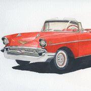 Chevy Bel Air Cab, Watercolour