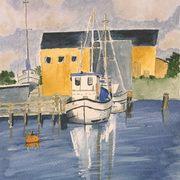 Fishing boats, Watercolour