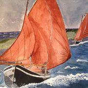 Galway Hooker, Watercolour