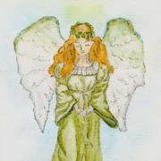 Guardian Angel,  Watercolour Pencils