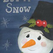 Let it snow, Acrylics