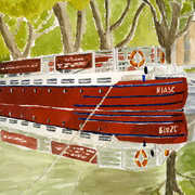 The Barge Dublin, Watercolour