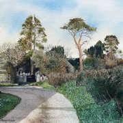 Road to Donoughmore,watercolour,27 x 17 cm