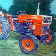 Tractor study,oil on board,30 x 23 cm
