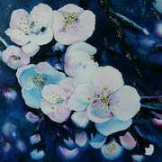 Moonlight Blossom,Oil on canvas,40