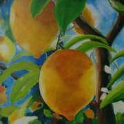 Zitronin II,Oil on canvas,30 x 30 x 4 cms