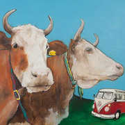 Campercow Brothers,Acrylic on canvas,50 x 70 cm